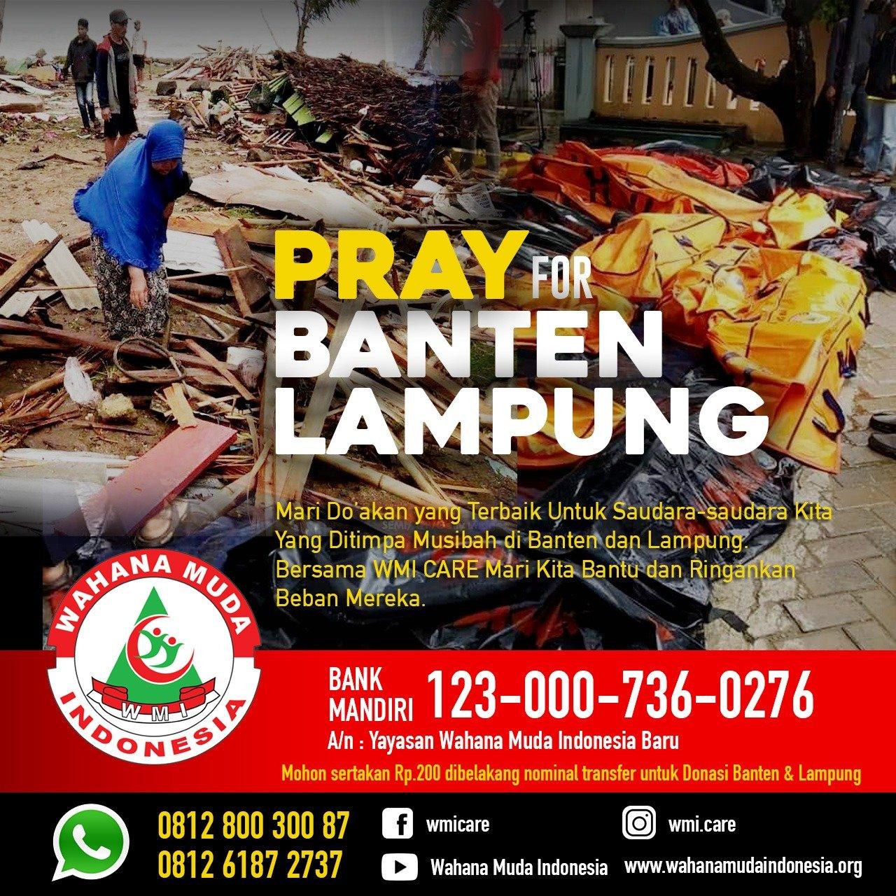 WMI Galang Donasi untuk Korban Tsunami Banten dan Lampung